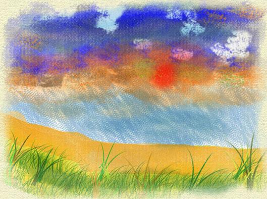 Tramonto ne Deserto tela elaborato PER IL WEB