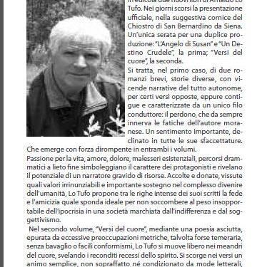In crescita la produzione letteraria di Arnaldo Lo Tufo